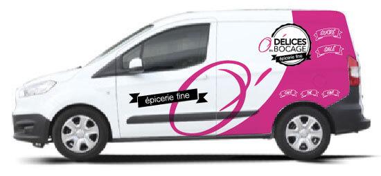 Publicité adhésive Vendée Habillage véhicules