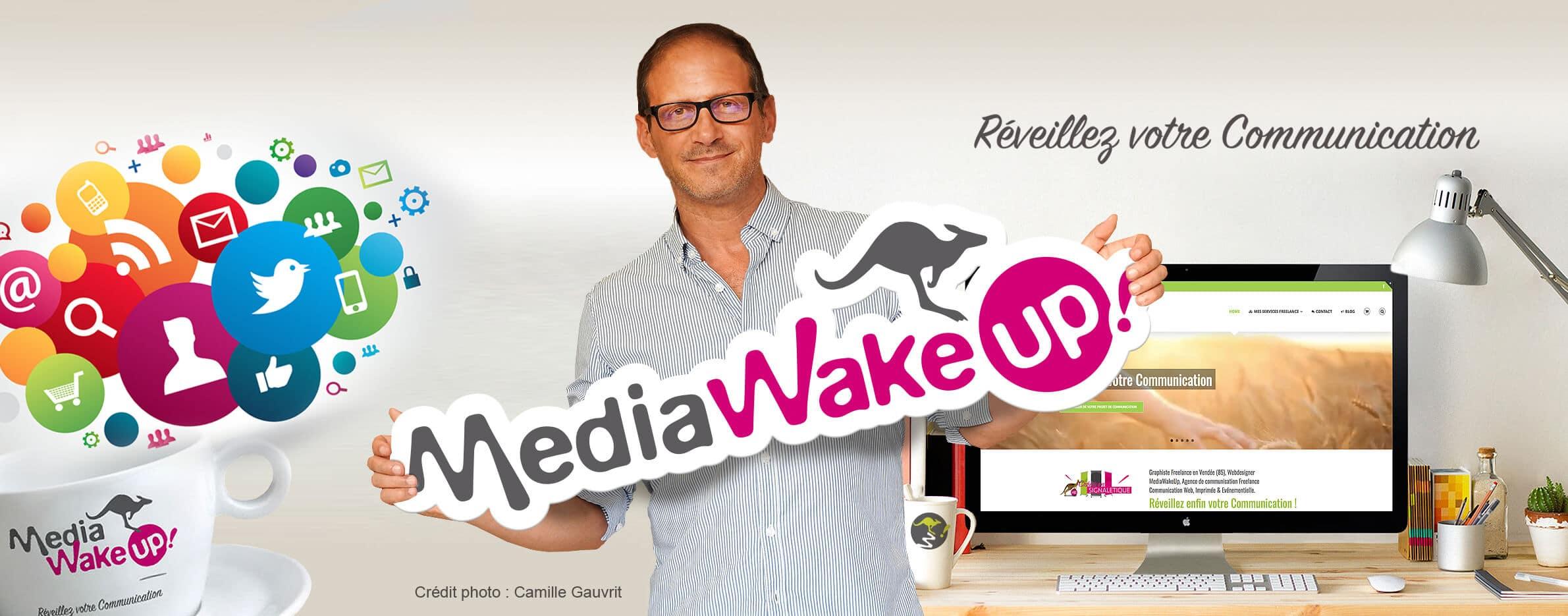 Dominique GAUVRIT Graphiste webmaster freelance Vendée MediaWakeUp