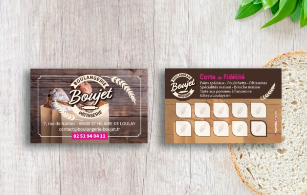 Boulangerie Ptisserie BOUJET Cartes De Fidlit Visite