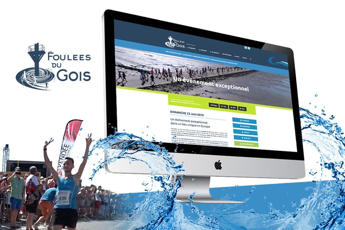 foulées du gois création site internet web en Vendée