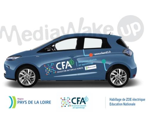 Habillage véhicule, publicité adhésive – Education Nationale Vendée CFA