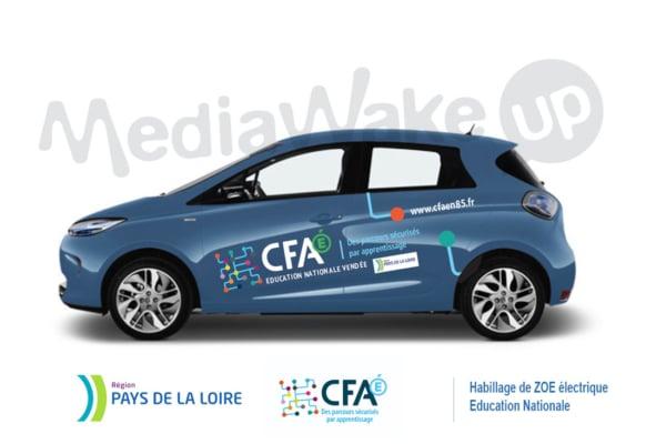 Habillage véhicule publicité adhésive Vendée Nantes