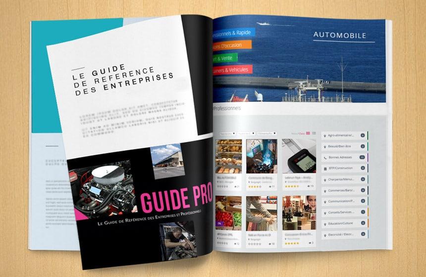 brochures plaquettes mise en page agence communication Vendée Graphiste freelance