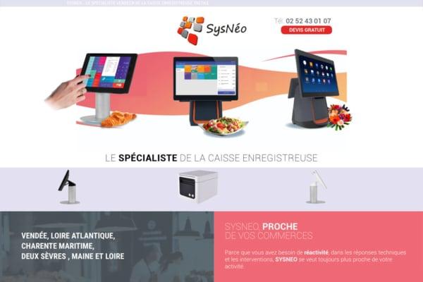 sysneo caisses enregistreuses vendee agence web Vendée Nantes Paris