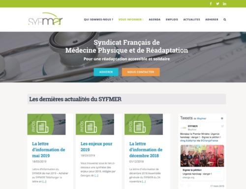Création site internet Santé – Syndicat Français de Médecine Physique et de Réadaptation
