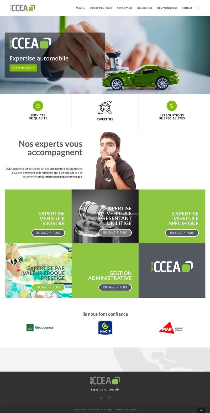 création site internet en Vendée groupe ccea